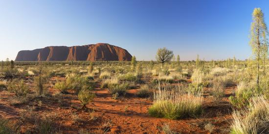 Uluru (UNESCO World Heritage Site), Uluru-Kata Tjuta National Park, Northern Territory, Australia-Ian Trower-Photographic Print