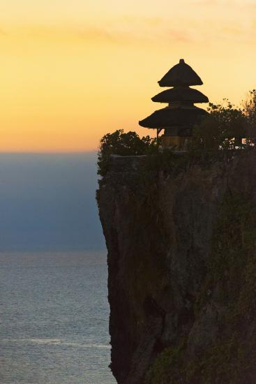 Uluwatu Temple on the Cliff, Bali Island, Indonesia-Keren Su-Photographic Print
