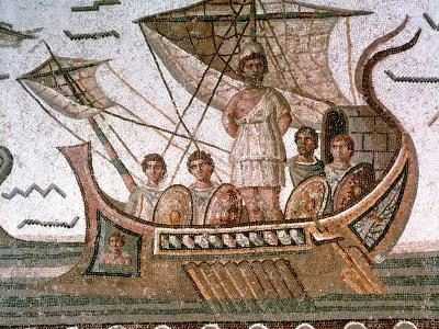 Ulysses and the Sirens, Roman Mosaic, 3rd Century Ad--Giclee Print