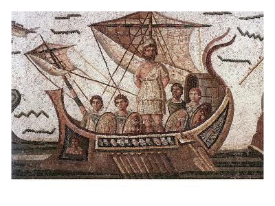 Ulysses in His Ship--Art Print