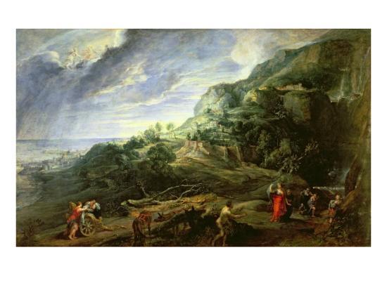 Ulysses on the Phaecian Island-Peter Paul Rubens-Giclee Print
