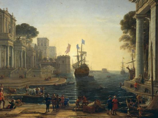 Ulysses Returning Chryseis to Her Father-Claude Lorraine-Giclee Print
