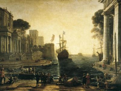 Ulysses Returning Chryseis to Her Father-Claude Lorraine-Art Print
