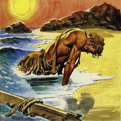 Ulysses Washed Up on the Island of Ogygia--Giclee Print