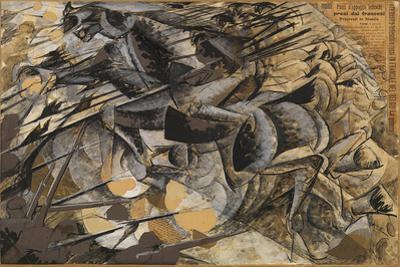 Charge Lancers - Cavalry Charge (Carica Di Lancieri - Carica Di Cavalleria) by Umberto Boccioni