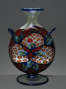 Colorless Blown Glass Vase with Murrine Decoration, 1914-1916 by Umberto Boccioni