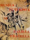 Design for the Cover of 'Musica Futurista' by Francesco Balilla Pratella (1880-1955), 1912-Umberto Boccioni-Premium Giclee Print