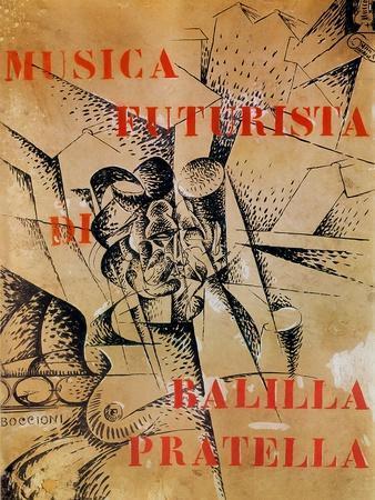 Design for the Cover of 'Musica Futurista' by Francesco Balilla Pratella (1880-1955), 1912