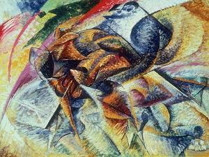 Dynamism of a Cyclist (Dinamismo Di Un Ciclista) 1913 by Umberto Boccioni