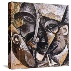 Dynamism of a Man's Head, 1914 by Umberto Boccioni