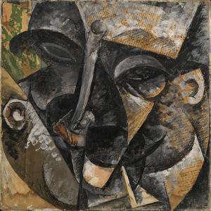 Dynamism of a Man's Head or Composition of a Woman's Head (Dinamismo Di Una Testa Di Uomo) by Umberto Boccioni