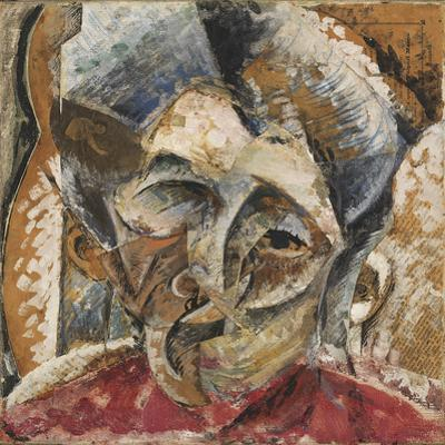 Dynamism of a Woman's Head or Head of a Woman or Decomposition of a Woman's Head by Umberto Boccioni