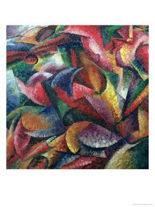 Dynamism of the Body, 1913 by Umberto Boccioni