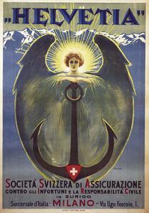 Helvetia Poster by Umberto Boccioni, 1909 by Umberto Boccioni