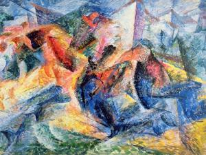 Horse and Rider and Buildings, 1914 by Umberto Boccioni