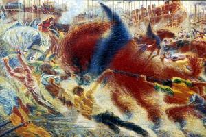 L'Eveil De La Cite (The City Awakes), 1910 by Umberto Boccioni