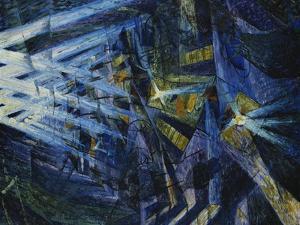 Le Forze Di Una Strada, 1911 by Umberto Boccioni