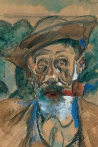 Man with a Pipe by Umberto Boccioni
