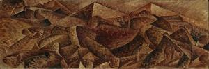 Plastic Dynamism - Horse + Tenement or Horse + Houses by Umberto Boccioni