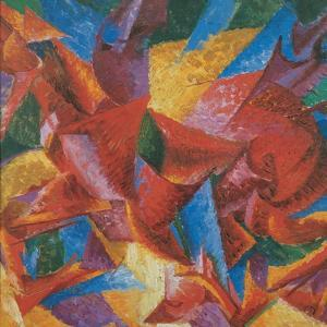 Plastic Forms of a Horse by Umberto Boccioni