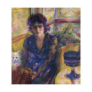 Portrait of Mrs Cragnolini Fanna by Umberto Boccioni