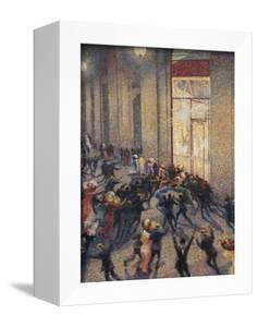 Riot at the Gallery in Front of a Cafe by Umberto Boccioni
