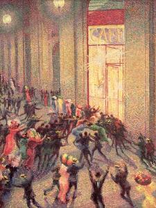 Riot in the Galleria, 1909 by Umberto Boccioni