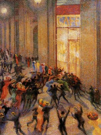 Riot in the Galleria by Umberto Boccioni