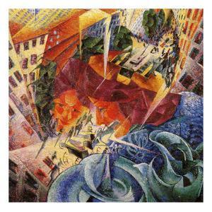 Simultaneous Visions by Umberto Boccioni