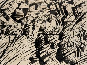 States of Mind: Those Who Go, 1912 by Umberto Boccioni