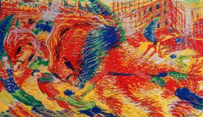The City Rises, 1911 by Umberto Boccioni