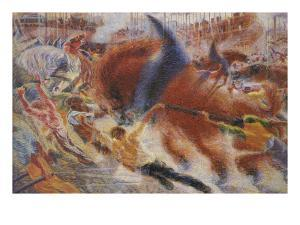 The City Rises by Umberto Boccioni