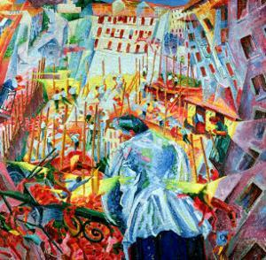 The Street Enters the House, 1911 by Umberto Boccioni