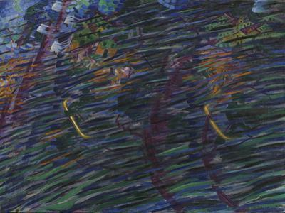"""Those Who Go or Study for """"States of Mind"""" - """"Those Who Start"""" or Those Who Go by Umberto Boccioni"""