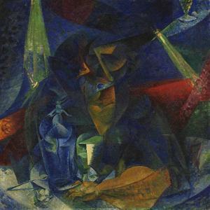 Woman at the Coffee by Umberto Boccioni