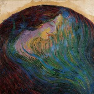 Woman's Head by Umberto Boccioni
