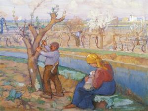 Spring in Treporti, by Umberto Moggioli (1886-1919). Italy, 20th Century by Umberto Moggioli