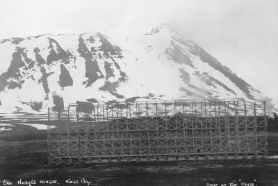 Umberto Nobile's Hangar, Base of the Airship 'Italia, Kongsfjorden, Spitzbergen, Norway, 1929--Photographic Print