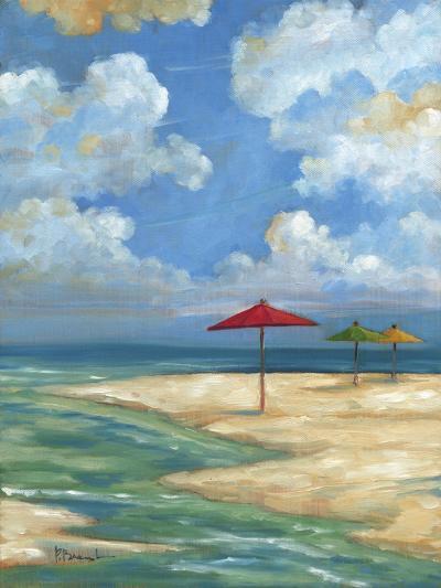 Umbrella Beachscape I-Paul Brent-Art Print