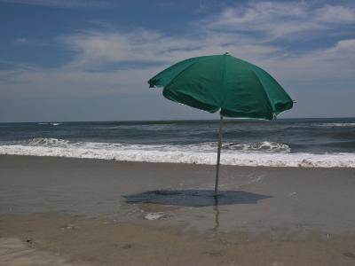 Umbrella Shades the Beach-Stacy Gold-Photographic Print
