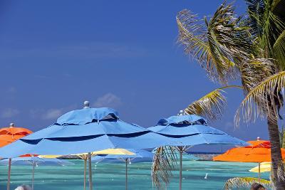 Umbrellas and Shade at Castaway Cay, Bahamas, Caribbean-Kymri Wilt-Photographic Print