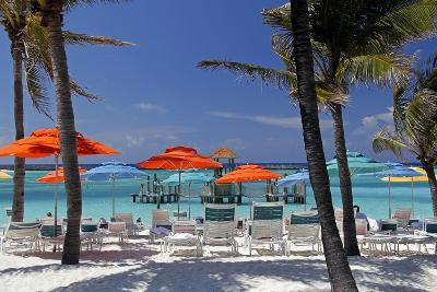 Umbrellas and Shade at Castaway Cay, Bahamas, Caribbean-Kymri Wilt-Photographic Print