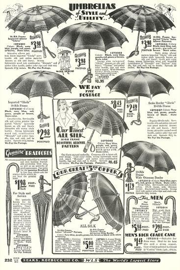 Umbrellas in Sears Roebuck Catalog--Art Print