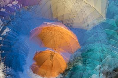 Umbrellas on Display in a Shopping Center in the Capital of Port Louis-Gabby Salazar-Photographic Print