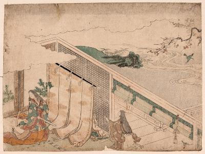 Ume Ni Uguisu O Nagameru Kanjo--Giclee Print
