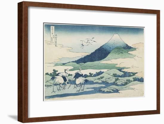 Umezawa Village in Sagami Province, 1831-1834-Katsushika Hokusai-Framed Premium Giclee Print