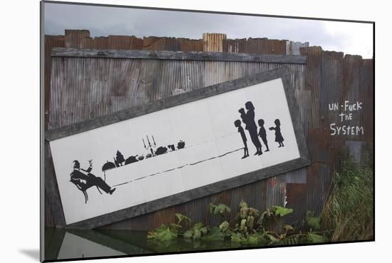 Un-F**k the System-Banksy-Mounted Giclee Print