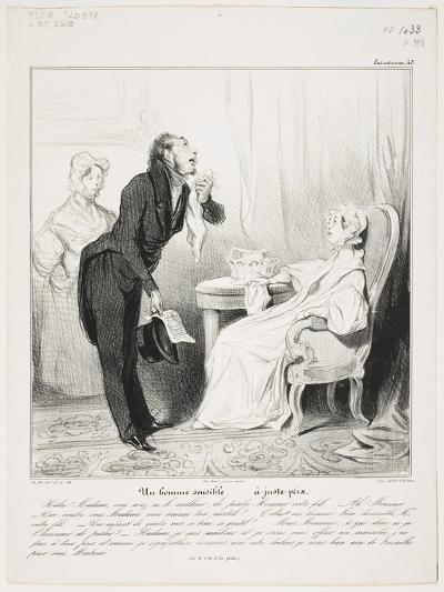 Un Homme Sensible (Caricaturana 43)-Honore Daumier-Giclee Print