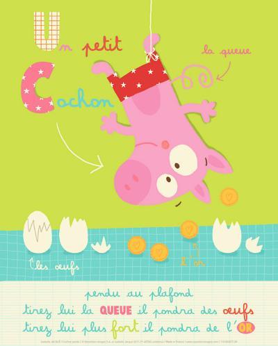 Un Petit Cochon-Isabelle Jacque-Art Print