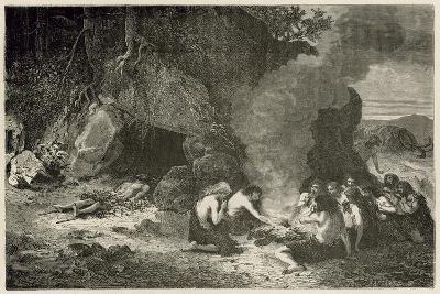 Un Repas Funeraire a L'Epoque Du Grand Ours Et Du Mammouth-Emile Antoine Bayard-Giclee Print